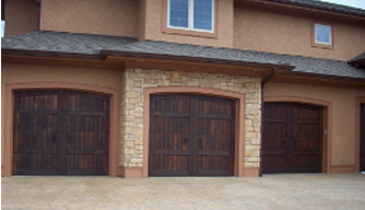 accent garage doors of kansas city home